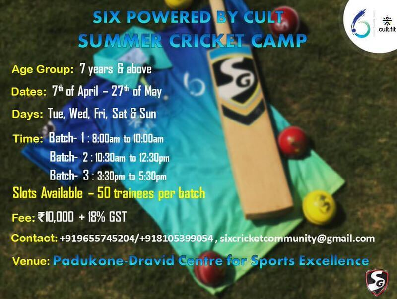 SIX Summer Cricket Camp Cover Image