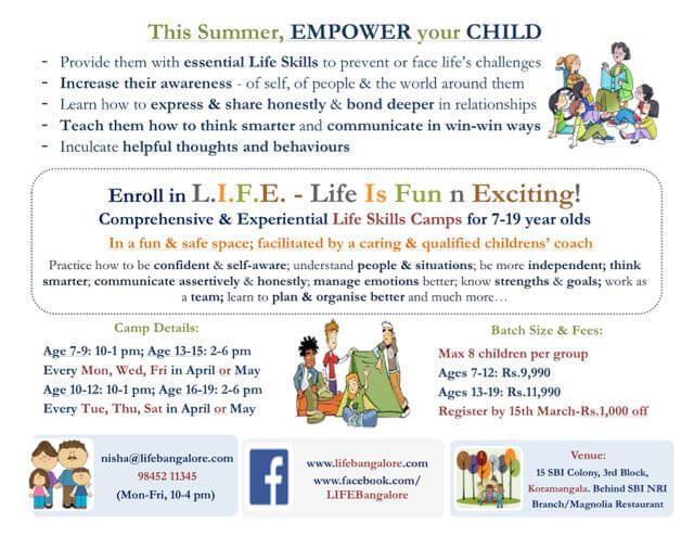 LIFE Personality Development Camp, Koramangala, Bangalore