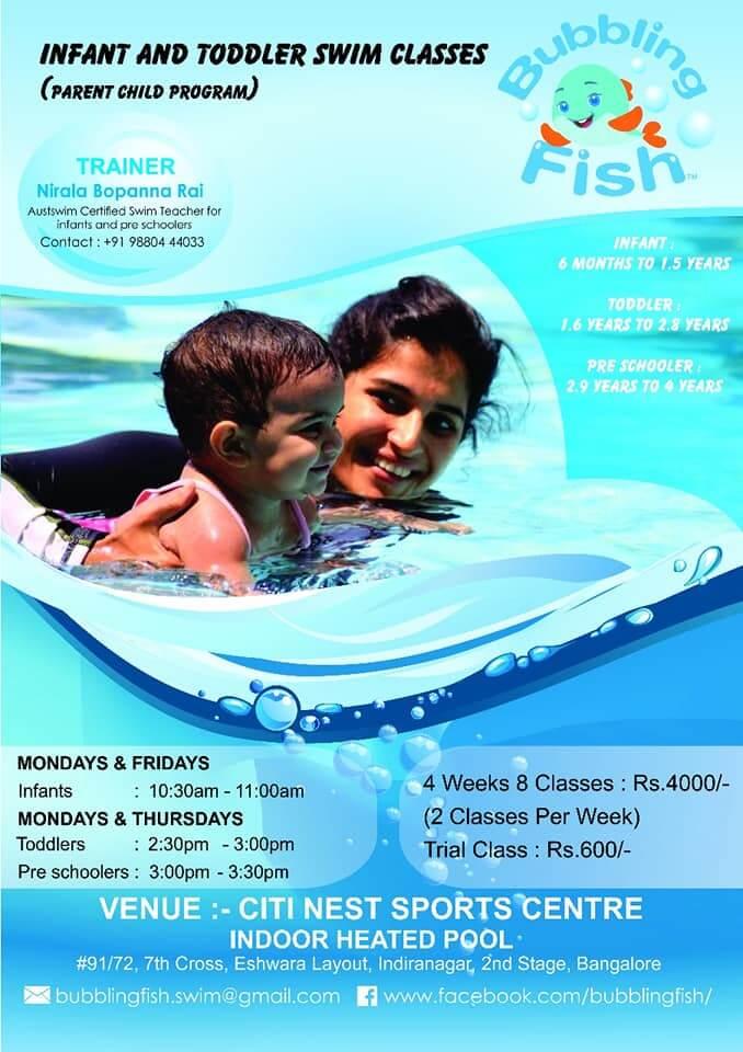 Bubbling Fish: Infant & Toddler Swim Program Cover Image