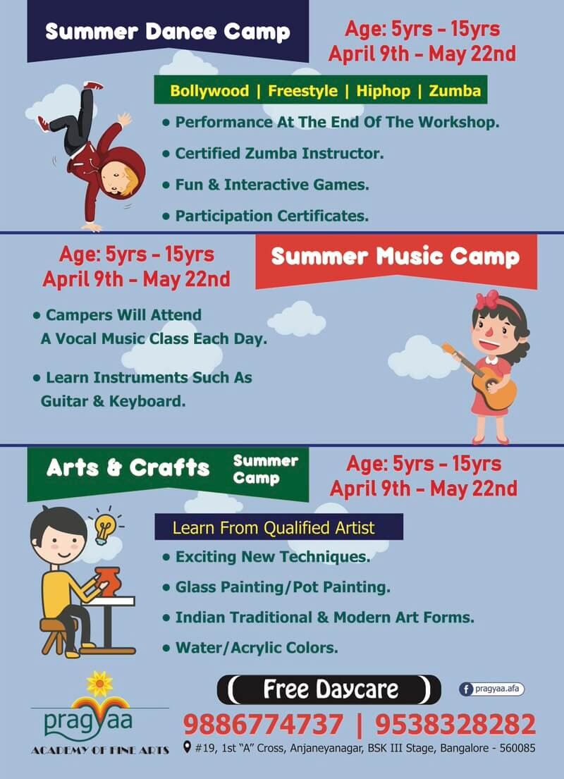 Dance, Music & Art Camp at Pragya Academy Cover Image