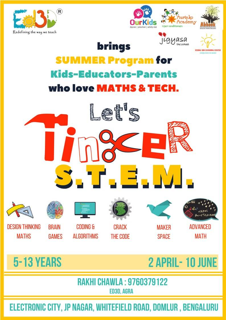 Let's Tinker S.T.E.M. – Summer Enrichment Program Cover Image