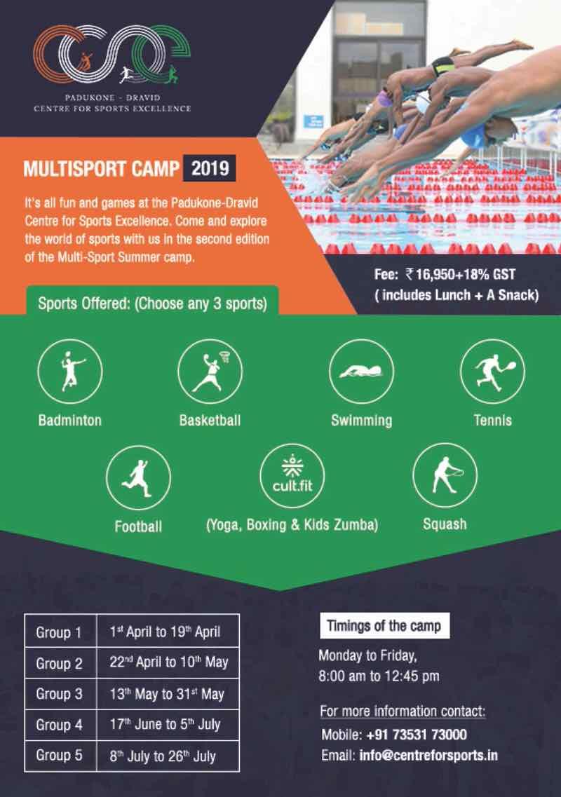 PDCSE Multisport Summer Camp 2019 Cover Image