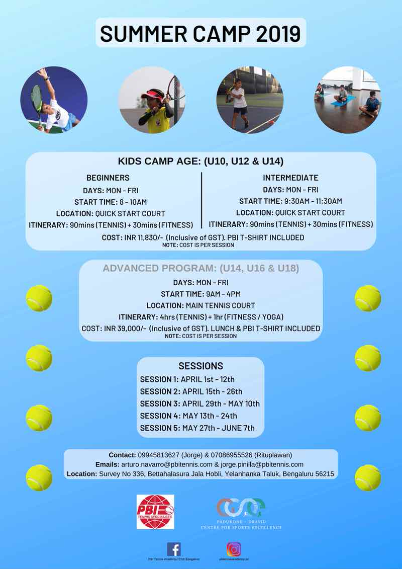 PBI Tennis Academy Summer Camp Cover Image