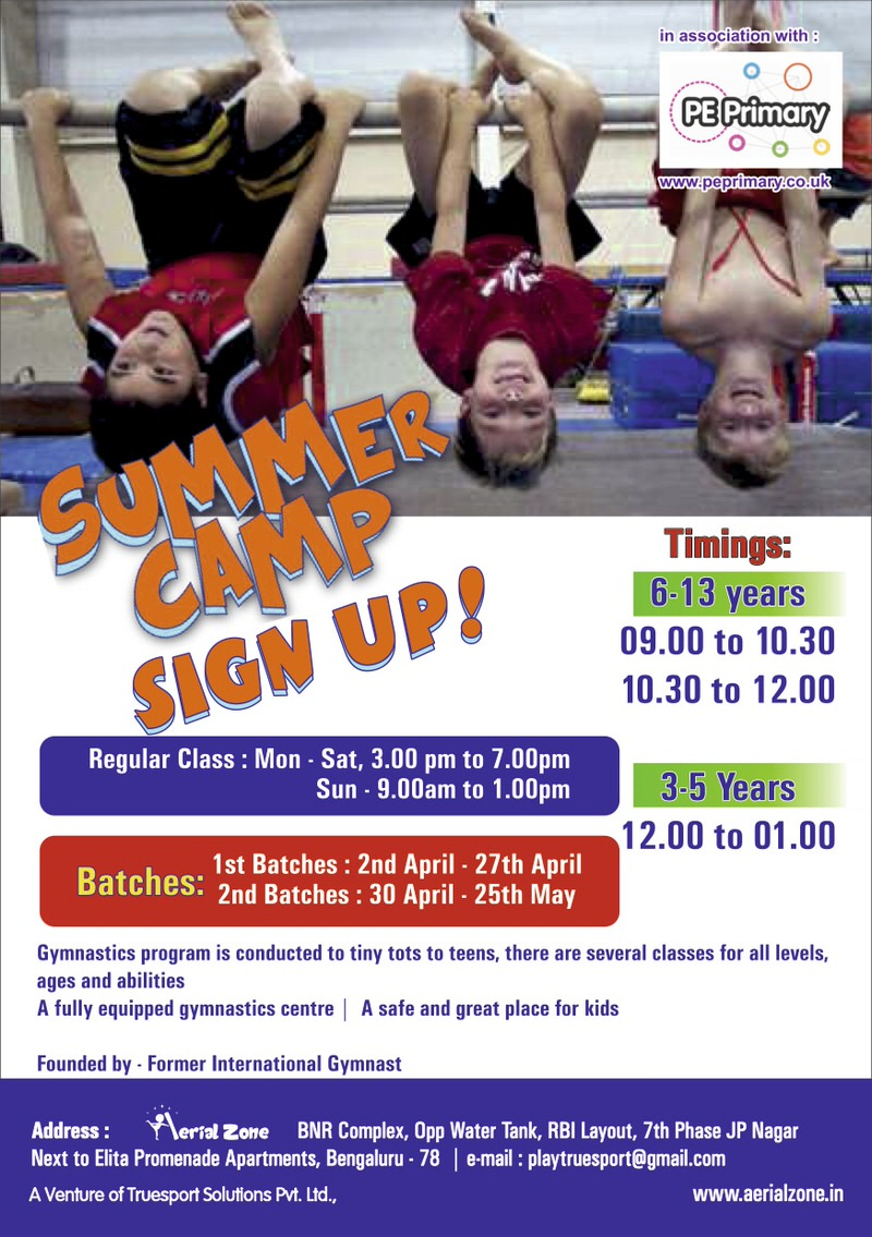 Aerial Zone Gymnastic Summer Camp Cover Image