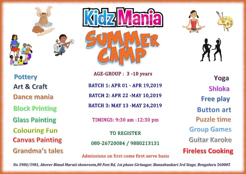 Kidz Mania Summer Masti Camp 2019 Cover Image