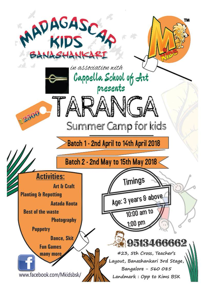 Taranga Summer Camp for Kids Cover Image