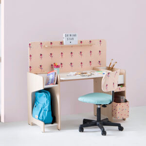 Pink Study Table on rent by Furlenco