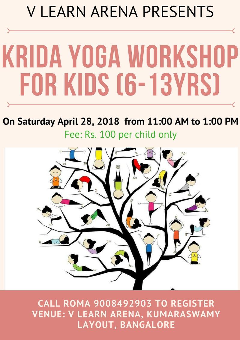 Krida Yoga Workshop For Kids Kumaraswamy Layout Bangalore