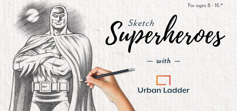 Sketch Superheroes With Urban Ladder Cover Image