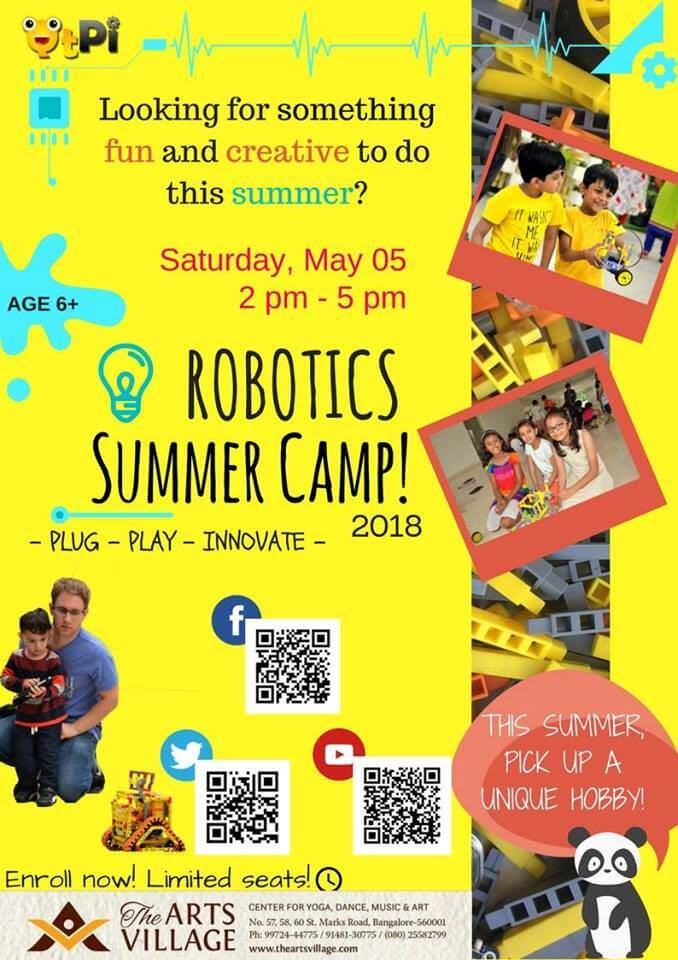 Qtpi Robotics Summer Camp St Marks Road Bangalore
