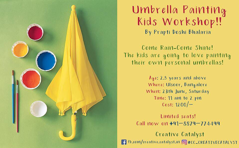 Umbrella Painting Kids Workshop Cover Image