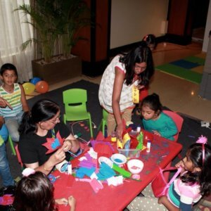Crafting activity at Candy Bazar