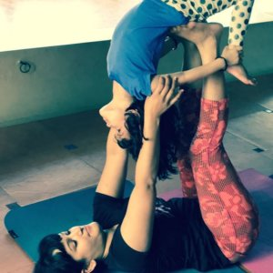 Mother and daughter yoginis