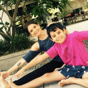Yoga fun with kids