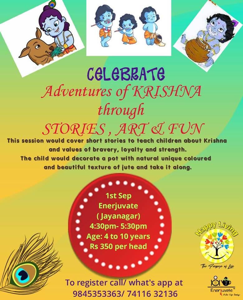 Stories-Art-Fun: Adventures of Krishna, Jayanagar, Bangalore