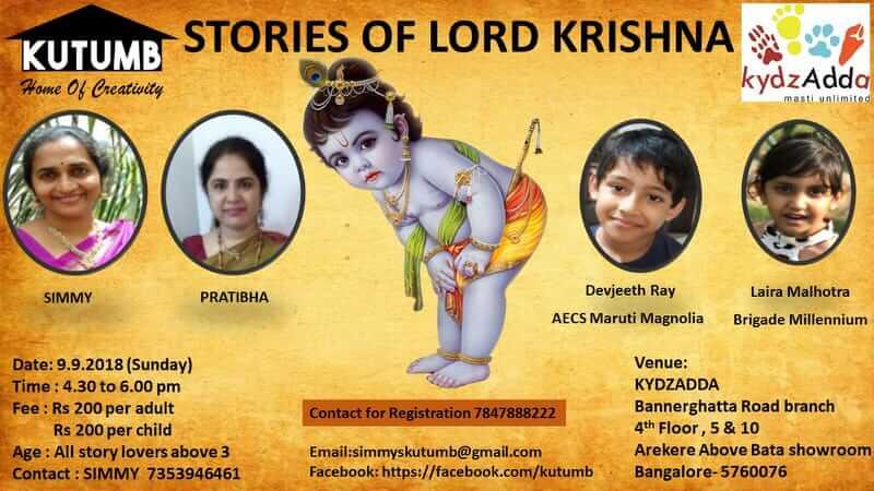 Stories of Lord Krishna, KydzAdda, Bannerghatta Road, Bangalore