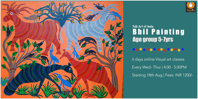 Learn to make Bhil Painting: for Kids 5 – 7 yrs Cover Image
