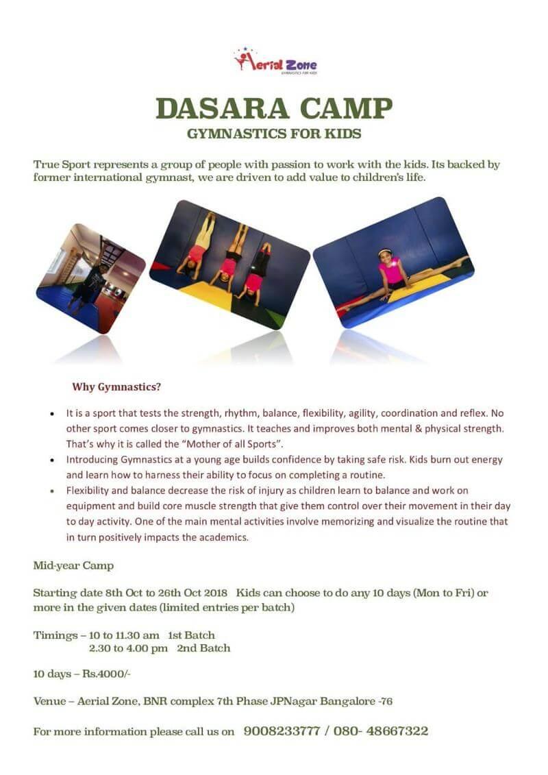 Gymnastics Dasara Camp for Kids Cover Image