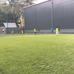 Brazilian Soccer School Coaching in Progress