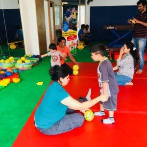 Socatots Toddler Soccer Class in Progress
