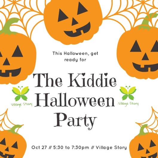 The Kiddie Halloween Party At Village Story Cover Image