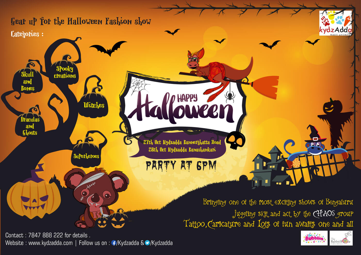 KydzAdda Halloween Party Cover Image