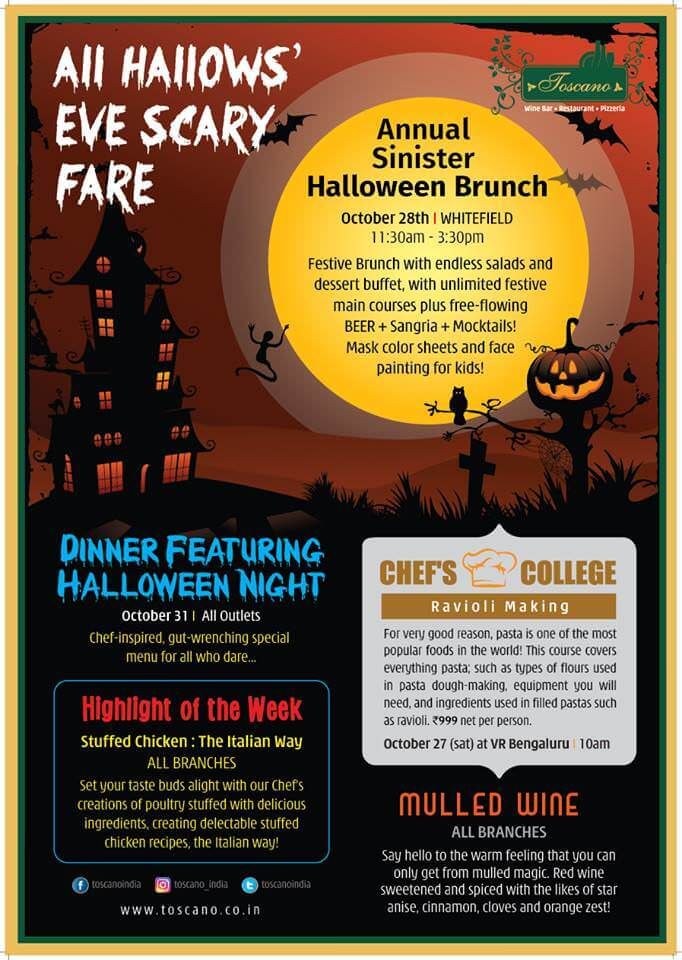 All Hallow's Eve Scary Fare at Toscano Cover Image