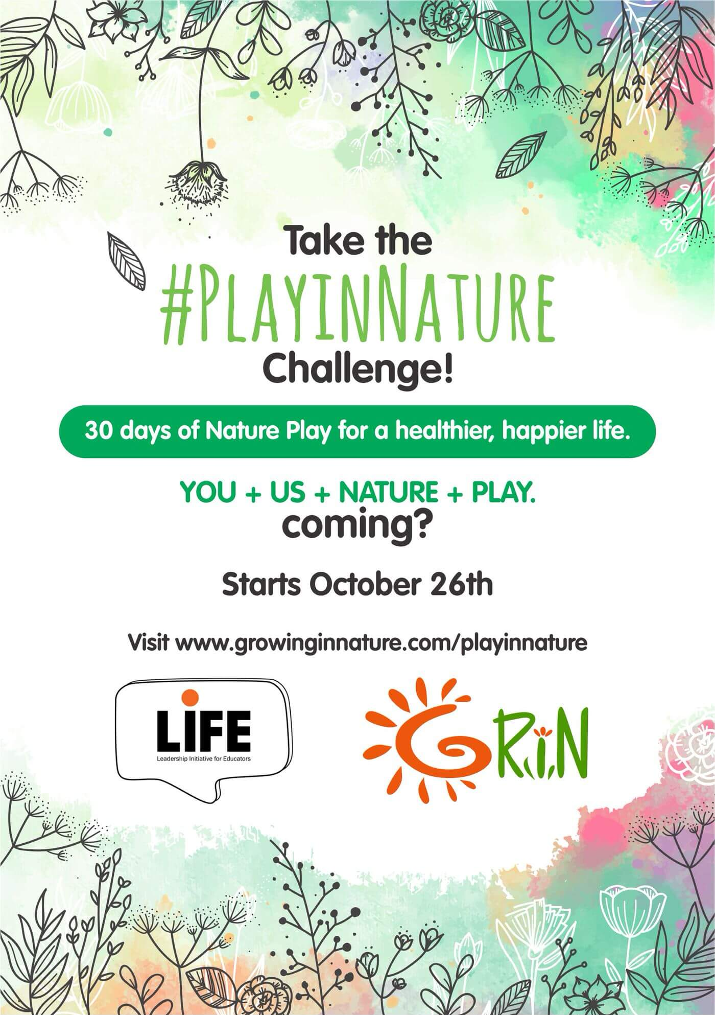 30 Day PlayInNature Challenge Cover Image
