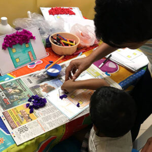 Colouring Activity at Small World Preschool