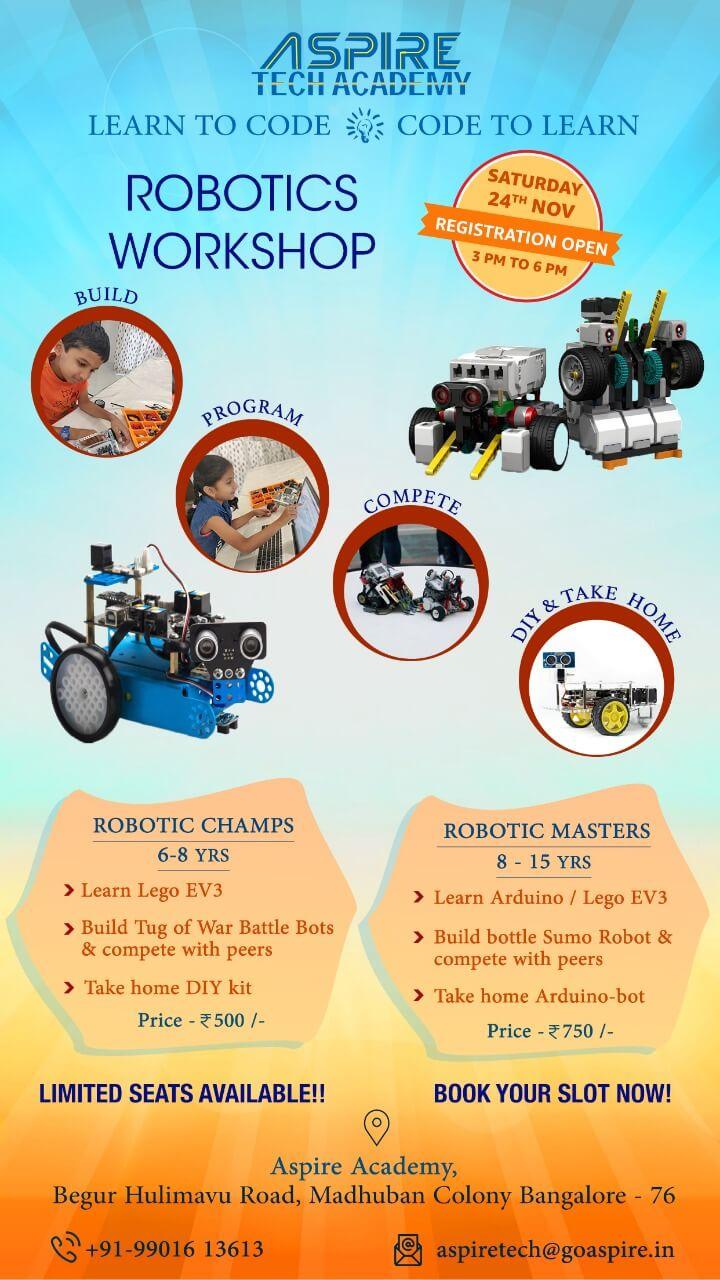 Robotics & Coding Workshop for Kids, Hulimavu Road, Bangalore
