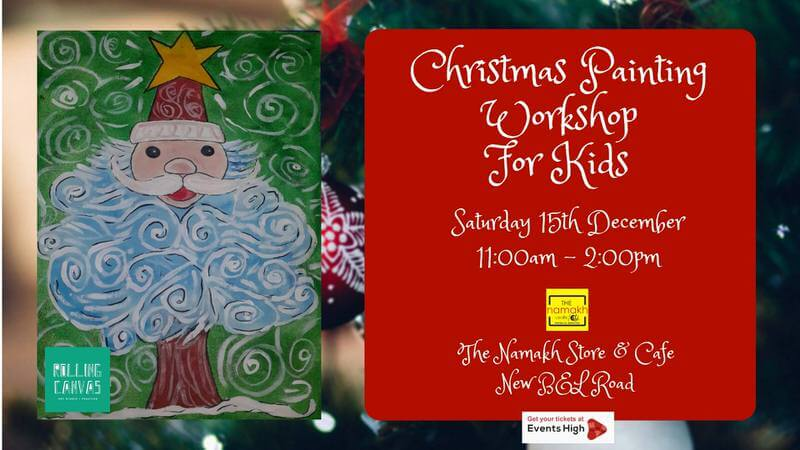 Christmas Painting Workshop for Kids Cover Image