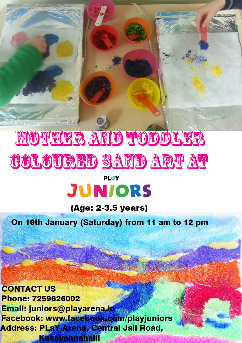 Mother and Toddler Coloured Sand Art Cover Image