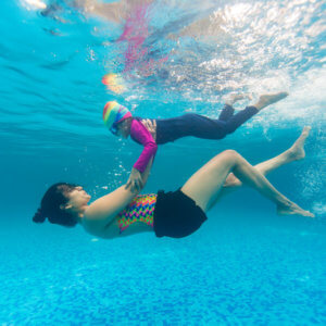 Nirala Bopanna teaching swimming