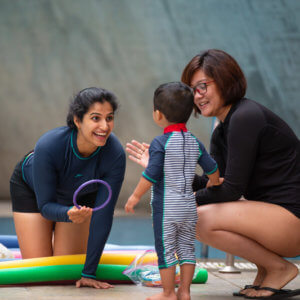 Fun activities at Bubbling Fish Infants & Toddler Swim Program