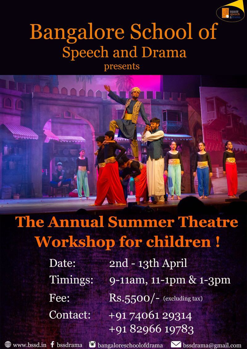 BSSP Annual Summer Theatre Camp 2019 for Children Cover Image