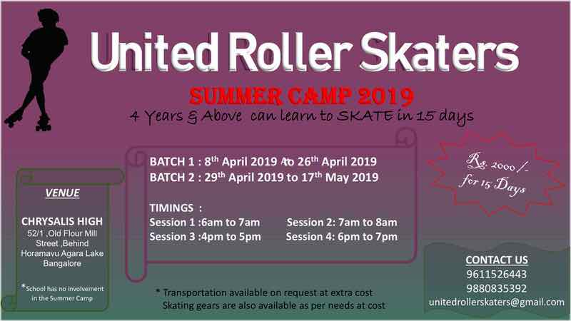 United Roller Skaters Summer Camp 2019 Cover Image