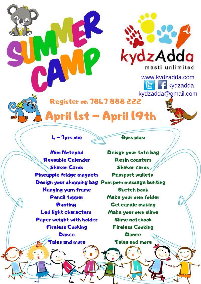 KydzAdda Summer Camp April 2019 Cover Image