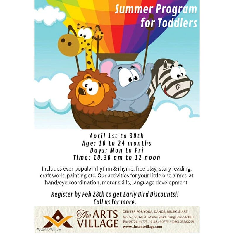 Summer Program for Toddlers 2019 Cover Image