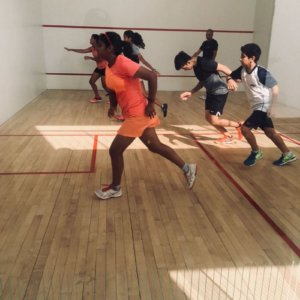 Students at Ray Malik School Of Squash