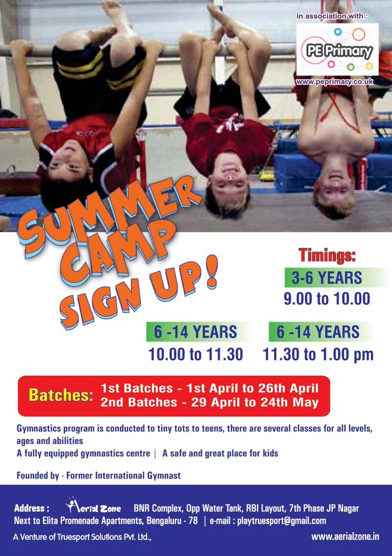 Aerial Zone Gymnastic Summer Camp 2019 Cover Image