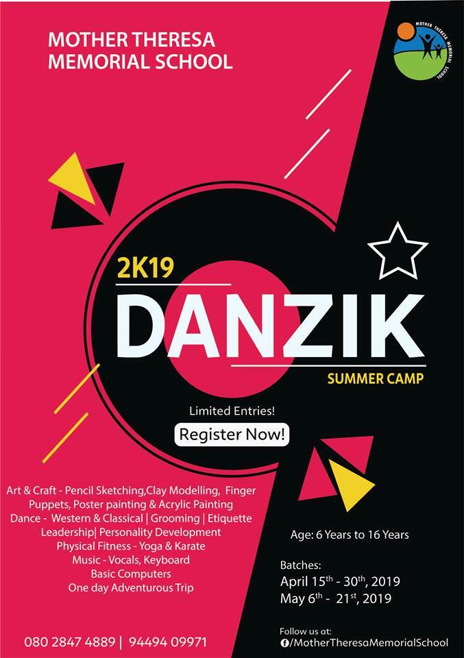 danzik summer camp 2019  bangalore