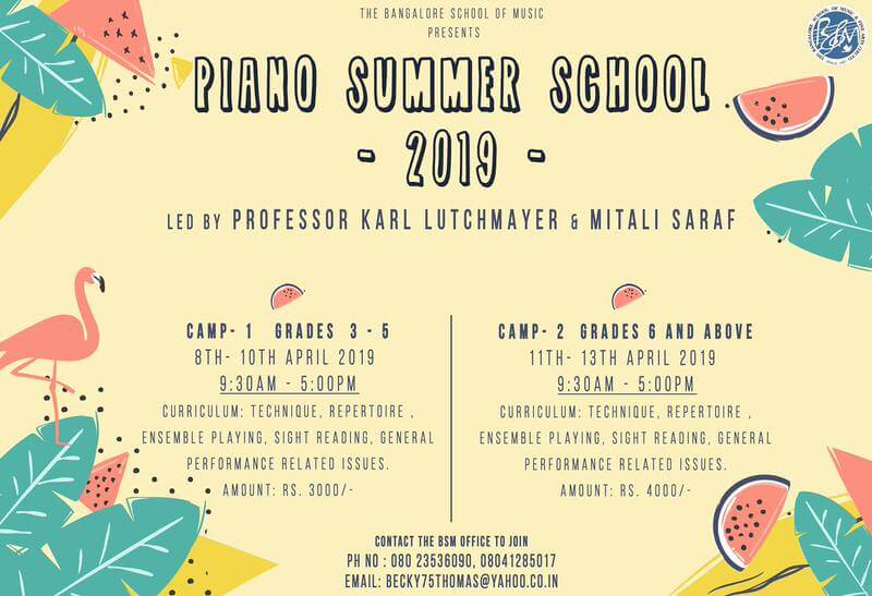 Piano Summer School 2019 Cover Image