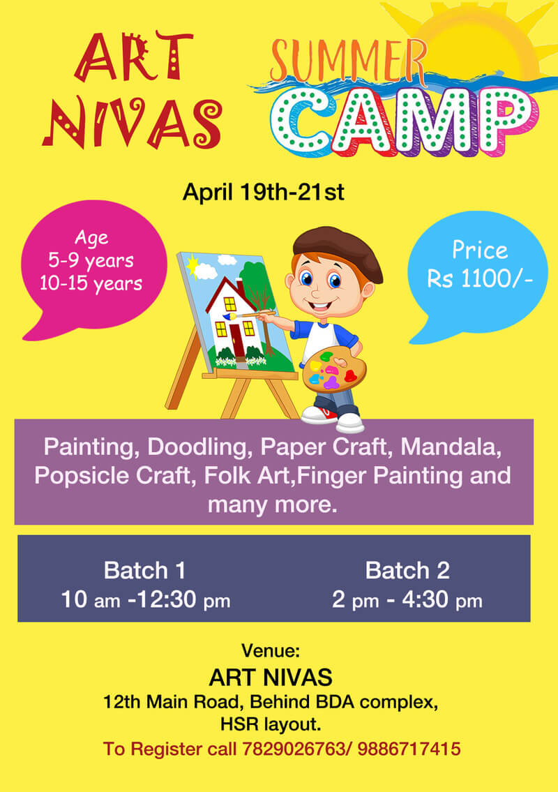 Art Nivas Summer Art Camp 2019 Cover Image