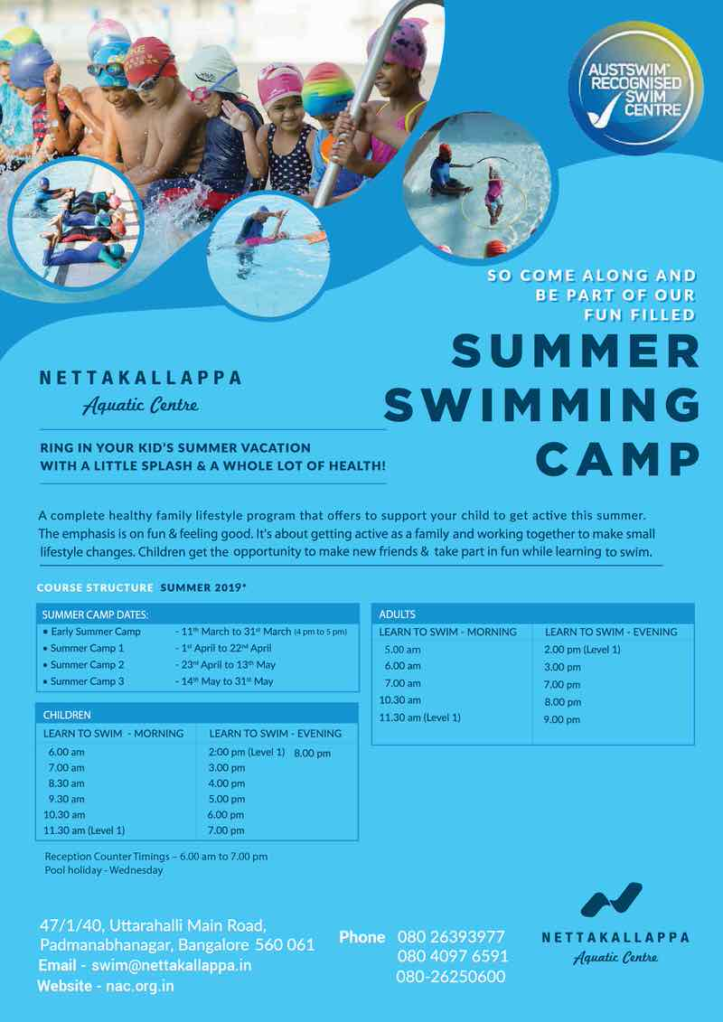 Learn to Swim & Aquatic Safety Swimmer Camp 2019 Cover Image