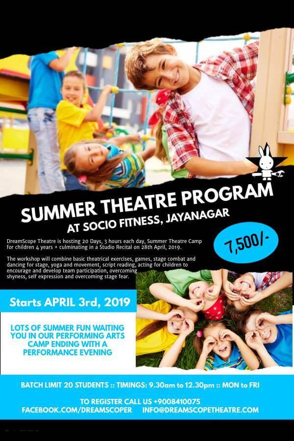 DreamScope Summer Theatre Program 2019 Cover Image