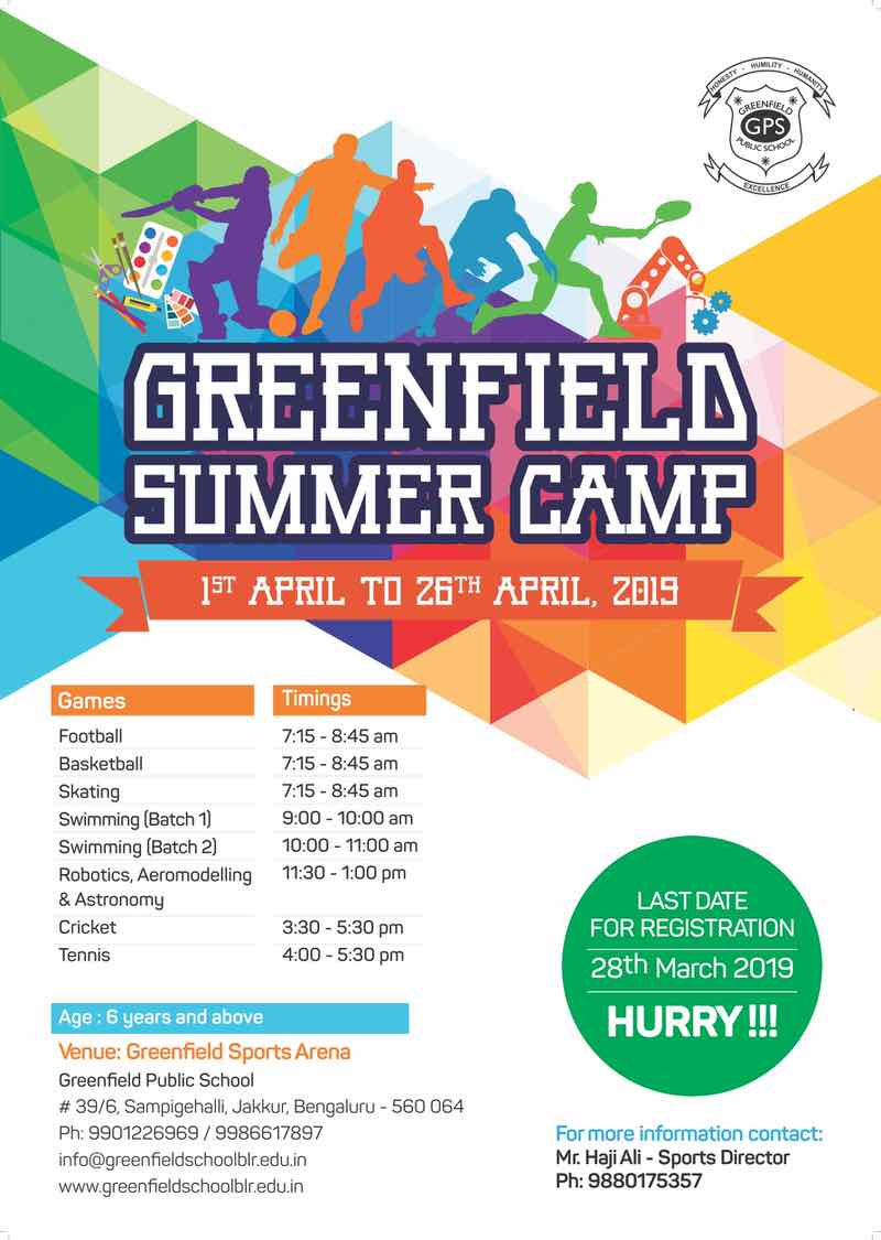 Greenfield Summer Camp 2019 Cover Image