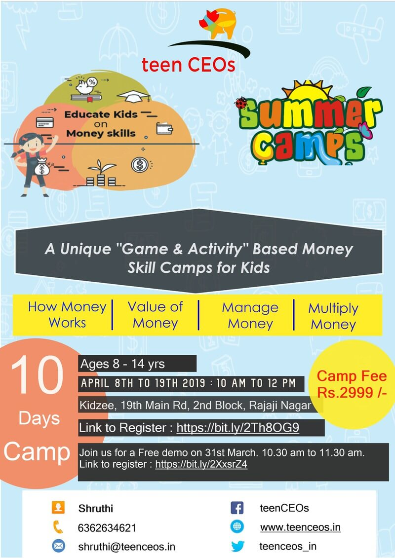 Money Management Skills Summer Camp 2019 Cover Image