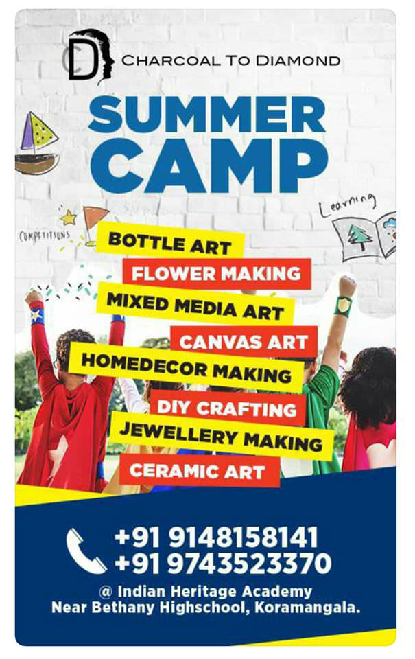 Charcoal to Diamond Art Summer Camp Cover Image