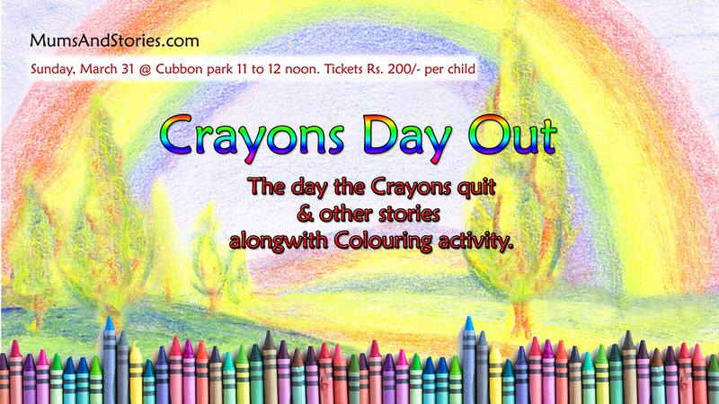 Crayons Day Out by Mums and Stories Cover Image