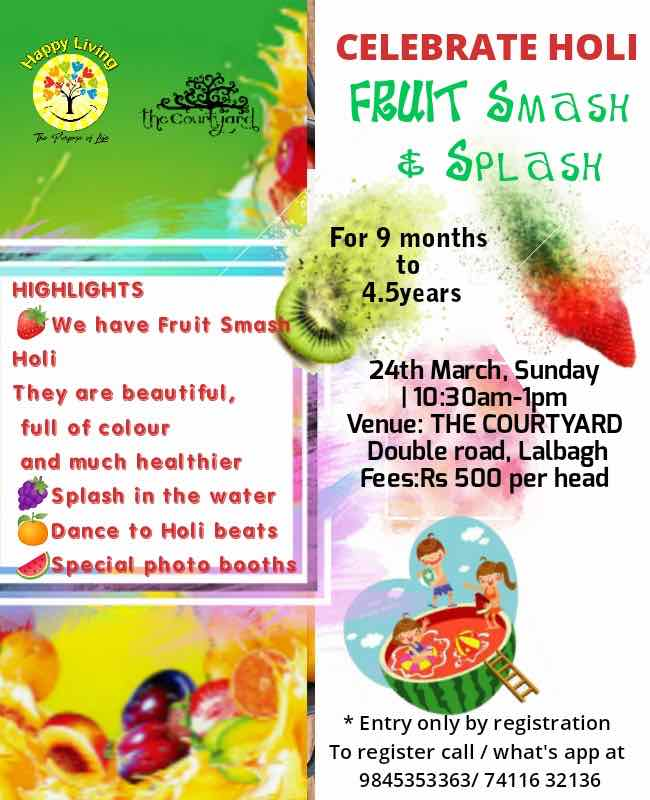Celebrate Holi Fruit Smash & Splash Cover Image